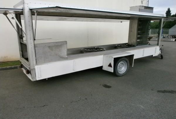 Remorque-magasin ETAL 5m TRAITEUR / ROTISSOIRE